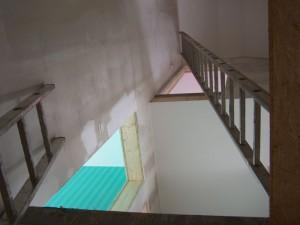 Bisheriger Treppenaufgang